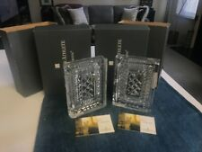 SET OF 2 SUPERB Waterford WALDEN CUT CRYSTAL BOOKENDS MINT NEW IN BOXES w/LABELS