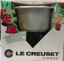 Le Creuset Cast Iron Fondue Set White BNIB