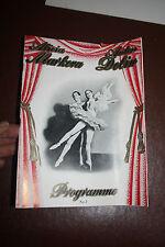 ballet ALICIA MARKOVA  ANTON DOLIN PROGRAM GALA PERFORMANCE