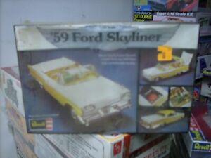 vintage revell 59 ford skyliner factory sealed,(mpc,jo-han,monogram,amt)