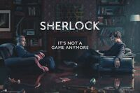 SHERLOCK ~ NOT A GAME ANYMORE ~ 24x36 TV POSTER ~ BBC NEW/ROLLED! CUMBERBACH