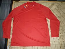 Mens 2Xlarge Red Nike Long Sleeve Crew Neck Shirt - Nwt