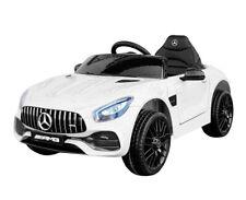 Kinder Elektroauto Mercedes Benz AMG V8 GT-R 12V Kinderfahrzeug weiß Kinderauto