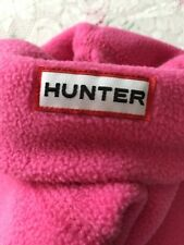 HUNTER Fleece Welly Liners Pink Size Large