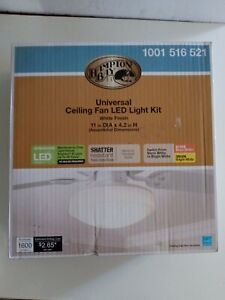 Hampton Bay 11 in. Warm & Bright White Light Universal LED Ceiling Fan Light Kit