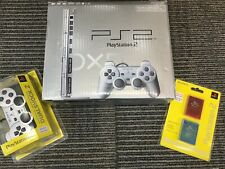 BRAND-NEW Sony PS2 Playstation 2 Silver Slim Console, Controller & Memory Card