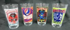 Grateful Dead Pint Glass Set - 4 Piece - Nib