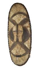 Songye Shield with Kifwebe Mask Icon African Art