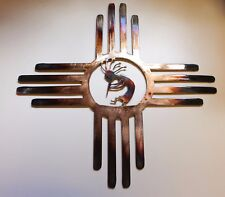"Southwestern Zia  with Kokopelli Metal Wall Art Decor 14 """