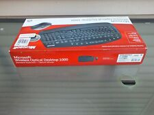 Vintage Microsoft Wireless Optical Desktop 1000 Keyboard With Mouse! New!