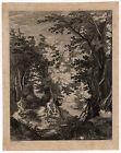 Antique Master Print-FOREST-LANDSCAPE-Bril-Anonymous-ca. 1600