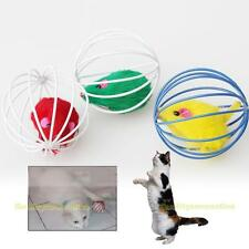 Funny Pet Cat Lovely Kitten Gift Interactive Play Toys with Fake Mouse Ball