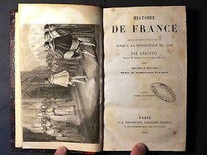 Livre Histoire de FRANCE jusqu'au 1789. Par Anquetil. Tome 4°. Paris 1862