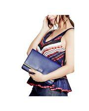 NWT GUESS Line Flap Crossbody Handbag Purse Chain Strap Blue