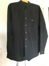 Mens Lacoste Long Sleeved Black Shirt Size 43 (L-XL)