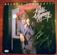 Eddie Money Psa Dna Coa Signed Wheres The Party Album W/ Vinyl Autograph