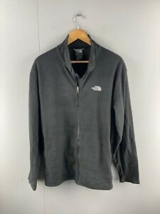 The North Face Mens Black Polyester Vintage Full Zip Fleece Jacket Size XLarge