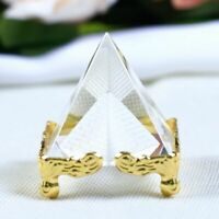 Crystal Pyramid Figurine Miniature Glass Cone Crafts House Ornaments Decor Gifts
