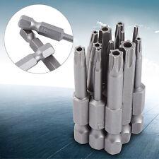 """12X Security Bits Magnetic Torx Screwdriver Tool Set 1/4"""" Hex Shank T5-40 AF"""