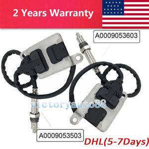 2PCS Nox Sensor A0009053603 + A0009053503 For Mercedes Benz W205 W166 Sprinter