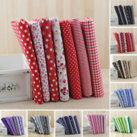 7Pcs Assorted Fat Quarters Bundle Quilt Quilting Cotton Floral Fabric For Sewing