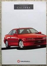 VAUXHALL CALIBRA Car Sales Brochure Feb 1991 #V7436 EDITION 2