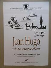 HUGO Jean Affiche originale litho 94 Pierre-André BENOIT Alès PAB Paysage