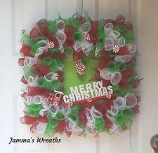 Christmas Train 1 Holiday Wreath (Handmade)