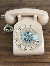 Vintage  AT&T beige desk telephone rotary dial volume control