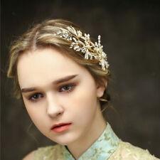 Woman's  Rhinestone Pearl Hair Pin  Wedding Clips Elegant Bridal Hair