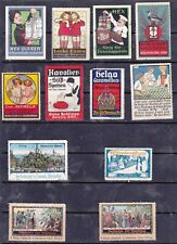 POSTER STAMPS, A COLLECTION OF 12 GERMAN FOOD & DRINK THEMED ADVERTISING LABELS