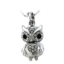Cute Ball Shape 3D Owl Animal Bird Charm Pendant Necklace Girl Fashion Jewelry