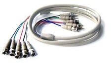 6FT 5 BNC to 5 BNC Coax Composite Video RGBHV Cable