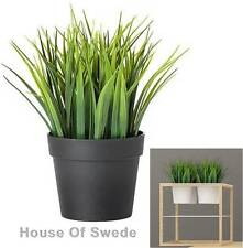 IKEA Artificial Grass Potted Plant Fake  Grass Indoor Outdoor in Black Pot NEW