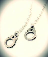 Hand Cuff Earrings-Kitsch Emo Charm Vintage Jewellery - Silver Chain Jewelry