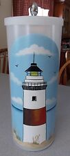HP LIGHTHOUSE Toilet Paper Holder/Canister/NEW DESIGN-SAND AND SEA OATS.