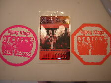 GYPSY KINGS BACKSTAGE PASS LOT OF 3 ALL ACCESS LAMINATE &2 SATINS 2000
