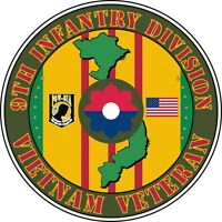 "9th Infantry Division Vietnam Veteran 5.5"" Window Sticker 'Officially Licensed'"