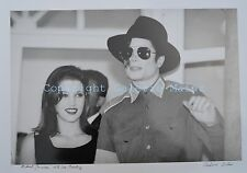 Vladimir Sichov, Michael Jackson with Lisa Presley, Original-Photographie, sign.
