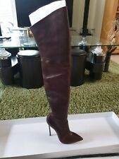 CASADEI over The Knee Leather Boots Size 40.5