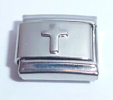 Silver CROSS Italian Charm - Faith Hope Love - 9mm fits Classic Bracelets N222