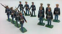Britians Lead 12 Toy Soldiers US Marines ( USMC ) Dress Blues 54mm Vintage