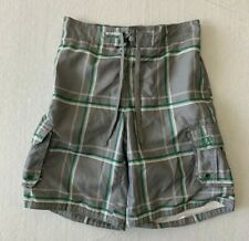 New listing OP Board Shorts S/CH 28-30 Men's Swim Suit Mesh Lining Green Plaid