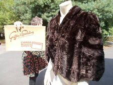 Vintage fur cape by Griffin and Spalding Nottingham in original box lovely!