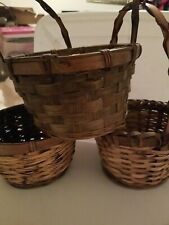 New ListingWoven Wicker Baskets Gathering Baskets Set Of 3 Adorable