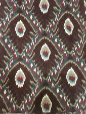 """Stunning Custom Ikat Drapery Curtain PanelsPinch Pleated Lined Weighted 102"""" EUC"""