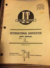 I & T INTERNATIONAL HARVESTER SHOP MANUAL SERIES 684 784 884 IH-51 E1-M