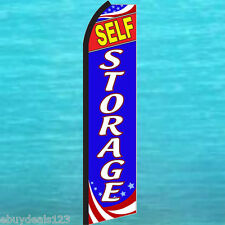 Self Storage Swooper Flag Tall Flutter Feather Advertising Sign Banner 25-1937