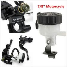 2pcs Black 7/8'' Motorcycle Front Brake Clutch Master Cylinder Reservoir Levers