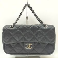 Chanel Shoulder Bag  Black Canvas 912455